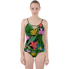Tropical Adventure Cut Out Top Tankini Set