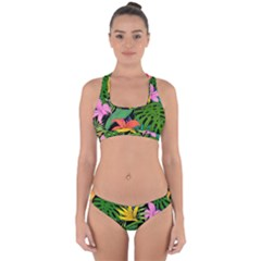 Tropical Adventure Cross Back Hipster Bikini Set