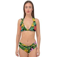 Tropical Adventure Double Strap Halter Bikini Set