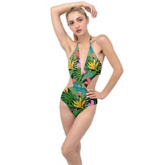 Tropical Adventure Plunging Cut Out Swimsuit