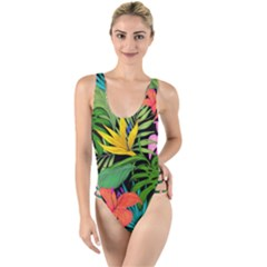 Tropical Adventure High Leg Strappy Swimsuit