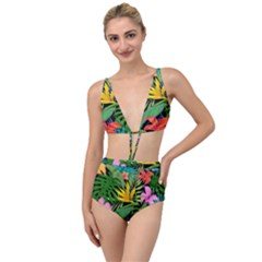 Tropical Adventure Tied Up Two Piece Swimsuit