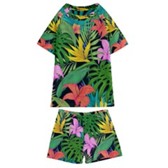Tropical Adventure Kids  Swim Tee And Shorts Set