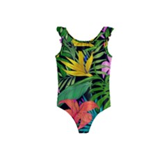 Tropical Adventure Kids  Frill Swimsuit