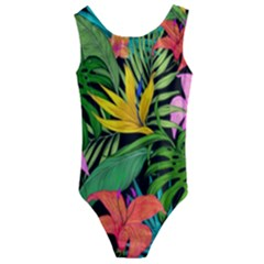 Tropical Adventure Kids  Cut Out Back One Piece Swimsuit