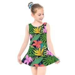 Tropical Adventure Kids  Skater Dress Swimsuit