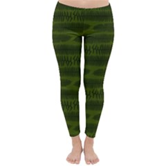 Seaweed Green Classic Winter Leggings by WensdaiAddamns