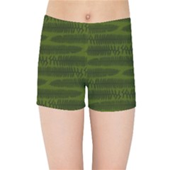 Seaweed Green Kids  Sports Shorts by WensdaiAddamns