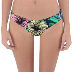 Hibiscus Dream Reversible Hipster Bikini Bottoms