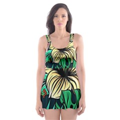 Hibiscus Dream Skater Dress Swimsuit