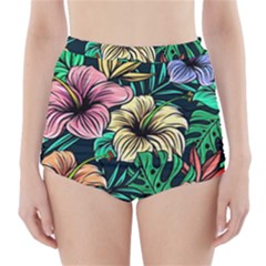 Hibiscus Dream High-waisted Bikini Bottoms