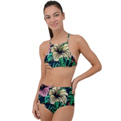 Hibiscus Dream High Waist Tankini Set