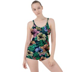 Hibiscus Dream Boyleg Tankini Set