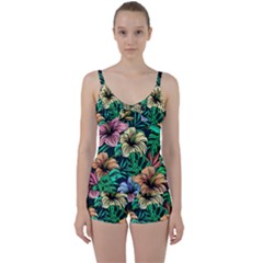 Hibiscus Dream Tie Front Two Piece Tankini