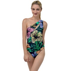 Hibiscus Dream To One Side Swimsuit