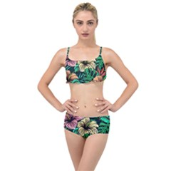 Hibiscus Dream Layered Top Bikini Set