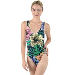 Hibiscus Dream High Leg Strappy Swimsuit