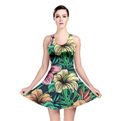 Hibiscus Dream Reversible Skater Dress