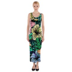 Hibiscus Dream Fitted Maxi Dress