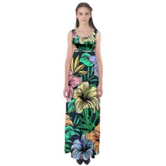 Hibiscus Dream Empire Waist Maxi Dress