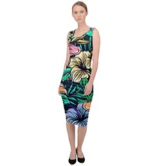 Hibiscus Dream Sleeveless Pencil Dress