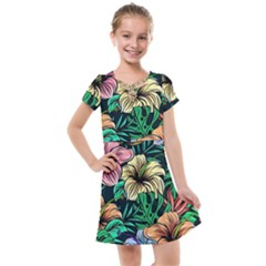 Hibiscus Dream Kids  Cross Web Dress