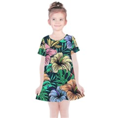 Hibiscus Dream Kids  Simple Cotton Dress