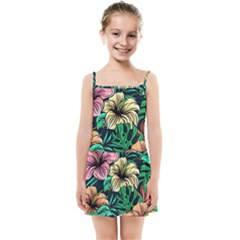 Hibiscus Dream Kids  Summer Sun Dress