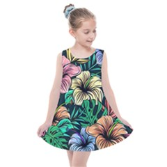 Hibiscus Dream Kids  Summer Dress