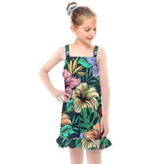 Hibiscus Dream Kids  Overall Dress