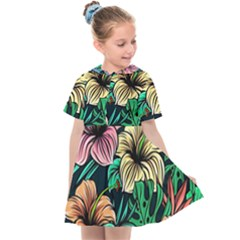 Hibiscus Dream Kids  Sailor Dress