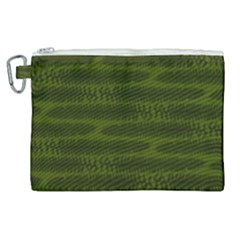 Seaweed Green Canvas Cosmetic Bag (xl) by WensdaiAddamns