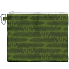 Seaweed Green Canvas Cosmetic Bag (xxxl) by WensdaiAmbrose