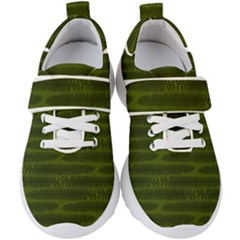 Seaweed Green Kids  Velcro Strap Shoes by WensdaiAddamns