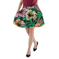 Hibiscus Dream A Line Pocket Skirt