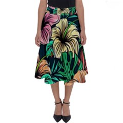 Hibiscus Dream Perfect Length Midi Skirt