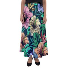 Hibiscus Dream Flared Maxi Skirt