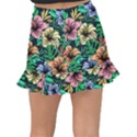 Hibiscus Dream Fishtail Mini Chiffon Skirt View2