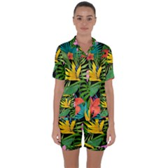 Tropical Adventure Satin Short Sleeve Pyjamas Set