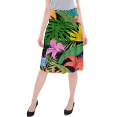 Tropical Adventure Midi Beach Skirt