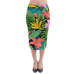 Tropical Adventure Midi Pencil Skirt