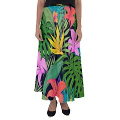 Tropical Adventure Flared Maxi Skirt