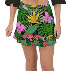 Tropical Adventure Fishtail Mini Chiffon Skirt