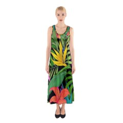 Tropical Adventure Sleeveless Maxi Dress