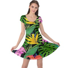 Tropical Adventure Cap Sleeve Dress