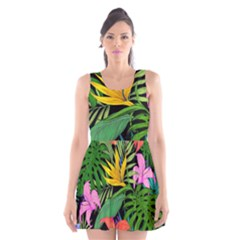 Tropical Adventure Scoop Neck Skater Dress