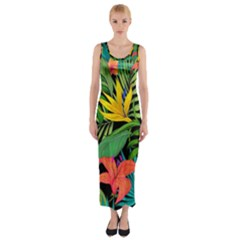 Tropical Adventure Fitted Maxi Dress