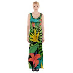 Tropical Adventure Maxi Thigh Split Dress