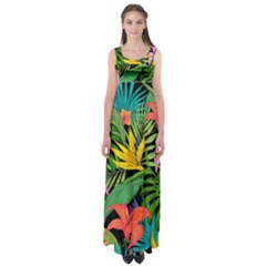 Tropical Adventure Empire Waist Maxi Dress