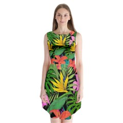 Tropical Adventure Sleeveless Chiffon Dress